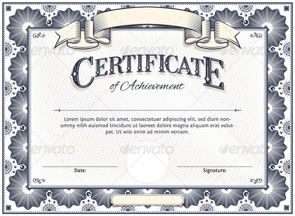 Vector certificate templates blogographic for Certificate template word 2013